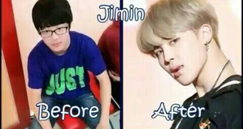 foto-foto before and after member BTS